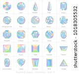 diamond shapes collection with... | Shutterstock .eps vector #1018305532