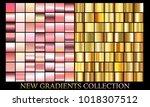 gold rose gradient set...   Shutterstock .eps vector #1018307512