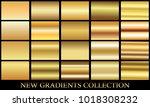 gold gradient set background... | Shutterstock .eps vector #1018308232