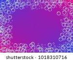 cleaning foam on gradient... | Shutterstock .eps vector #1018310716