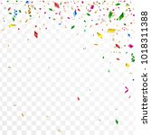 abstract confetti party... | Shutterstock .eps vector #1018311388