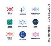 dna code biotech vector science ... | Shutterstock .eps vector #1018312105