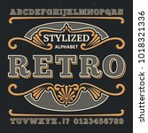 vintage western 3d typography.... | Shutterstock .eps vector #1018321336
