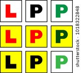 learner l plate and provisional ... | Shutterstock .eps vector #1018322848