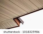 soffit board installation | Shutterstock . vector #1018325986