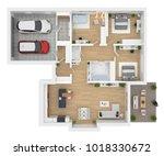 floor plan top view. house... | Shutterstock . vector #1018330672