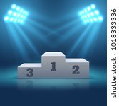 sports winner empty podium... | Shutterstock .eps vector #1018333336