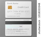realistic white bank credit... | Shutterstock .eps vector #1018333348