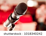 microphone for sound  music ... | Shutterstock . vector #1018340242