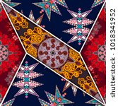 vector abstract seamless... | Shutterstock .eps vector #1018341952
