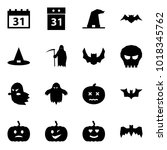 origami style icon set   31... | Shutterstock .eps vector #1018345762
