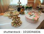 wedding banquet in a restaurant | Shutterstock . vector #1018346836