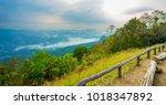 mountain mist  thailand | Shutterstock . vector #1018347892