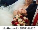 wedding details   wedding rings | Shutterstock . vector #1018349482