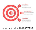 target with three arrows  three ... | Shutterstock .eps vector #1018357732