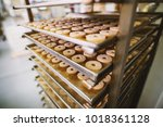 cookie factory  food industry.... | Shutterstock . vector #1018361128