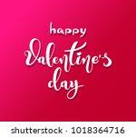 happy valentines day. retro... | Shutterstock .eps vector #1018364716