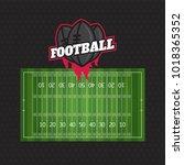 football or soccer game... | Shutterstock . vector #1018365352