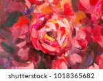 oil painting close up flower.... | Shutterstock . vector #1018365682