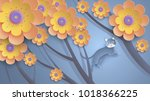 illustration of beautiful... | Shutterstock .eps vector #1018366225
