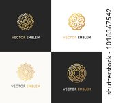 vector set of logo design... | Shutterstock .eps vector #1018367542