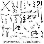 doodle hand drawn vector arrows | Shutterstock .eps vector #1018368898