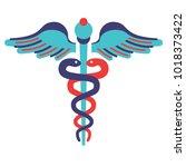 flat line style simbol.... | Shutterstock .eps vector #1018373422