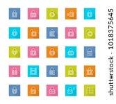 locks vector icon set in flat...   Shutterstock .eps vector #1018375645
