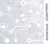circuit board  chipset... | Shutterstock .eps vector #1018379995