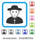 sadly christian priest vector... | Shutterstock .eps vector #1018382956