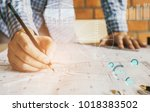 concept architects engineer... | Shutterstock . vector #1018383502