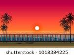Beautiful Sunset Sea Scenery...
