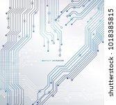 circuit board  chipset... | Shutterstock .eps vector #1018385815