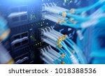 fiber optical connector... | Shutterstock . vector #1018388536