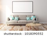 contemporary concrete living... | Shutterstock . vector #1018390552