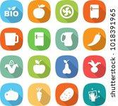 flat vector icon set   bio... | Shutterstock .eps vector #1018391965