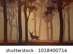 background with deciduous... | Shutterstock .eps vector #1018400716