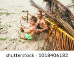 father and son play in...   Shutterstock . vector #1018406182