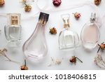 Bottle Of Woman Perfume On...