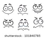 cartoon comics faces set for... | Shutterstock .eps vector #101840785