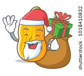 santa with gift butternut... | Shutterstock .eps vector #1018410832