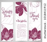 floral baners. hand drawn... | Shutterstock .eps vector #1018411912