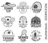set of tennis club badges.... | Shutterstock .eps vector #1018413106