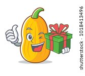 with gift butternut squash... | Shutterstock .eps vector #1018413496