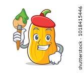 artist butternut squash...   Shutterstock .eps vector #1018415446