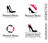 vector logo design for shoes... | Shutterstock .eps vector #1018417312