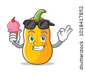with ice cream butternut squash ...   Shutterstock .eps vector #1018417852