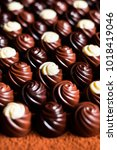 collection of chocolate sweets  ... | Shutterstock . vector #1018419046