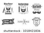 vector monochrome vintage... | Shutterstock .eps vector #1018421836