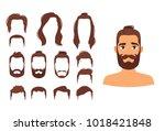 vector cartoon style... | Shutterstock .eps vector #1018421848